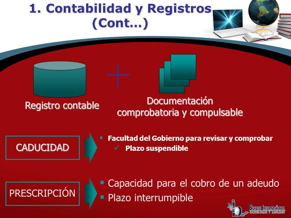 1. Contabilidad y Registros (Cont…)