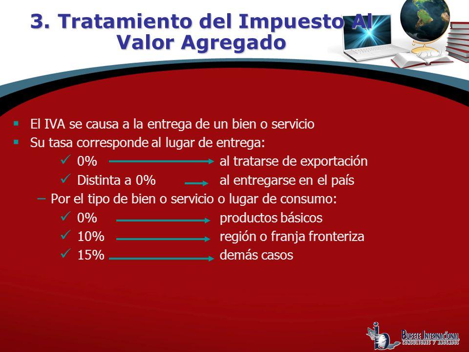 3. Tratamiento del Impuesto Al Valor Agregado