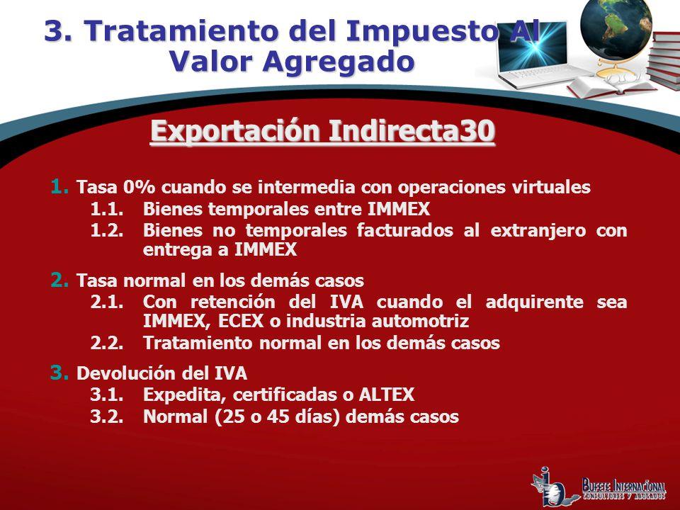 3. Tratamiento del Impuesto Al Valor Agregado Exportación Indirecta30