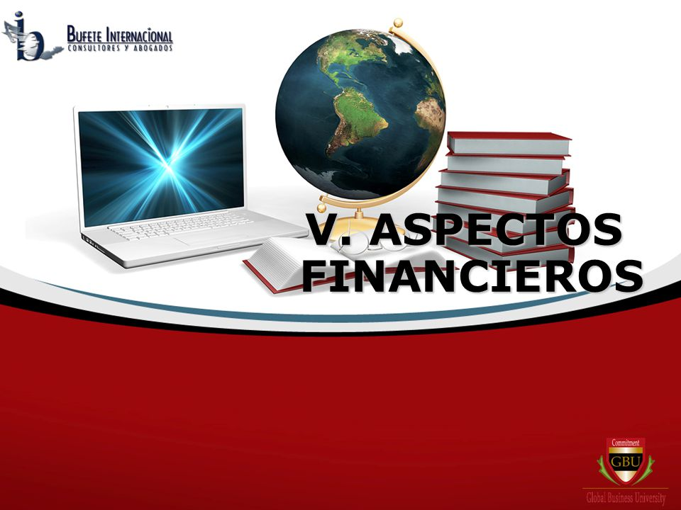 V. ASPECTOS FINANCIEROS