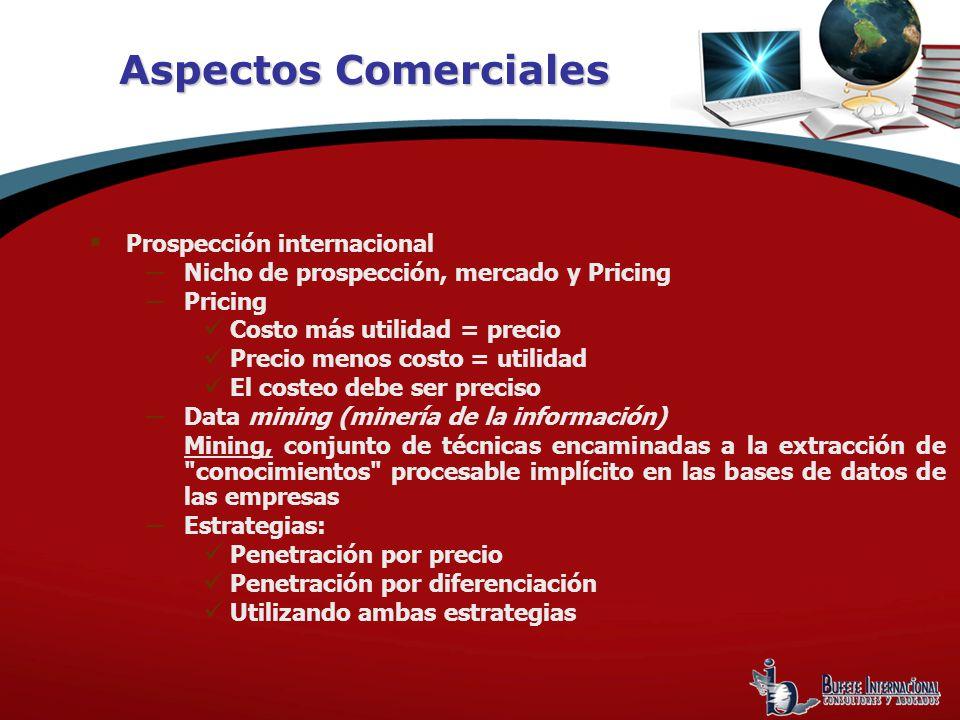 Aspectos Comerciales Prospección internacional