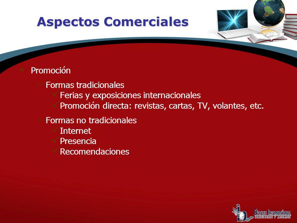 Aspectos Comerciales Promoción Formas tradicionales