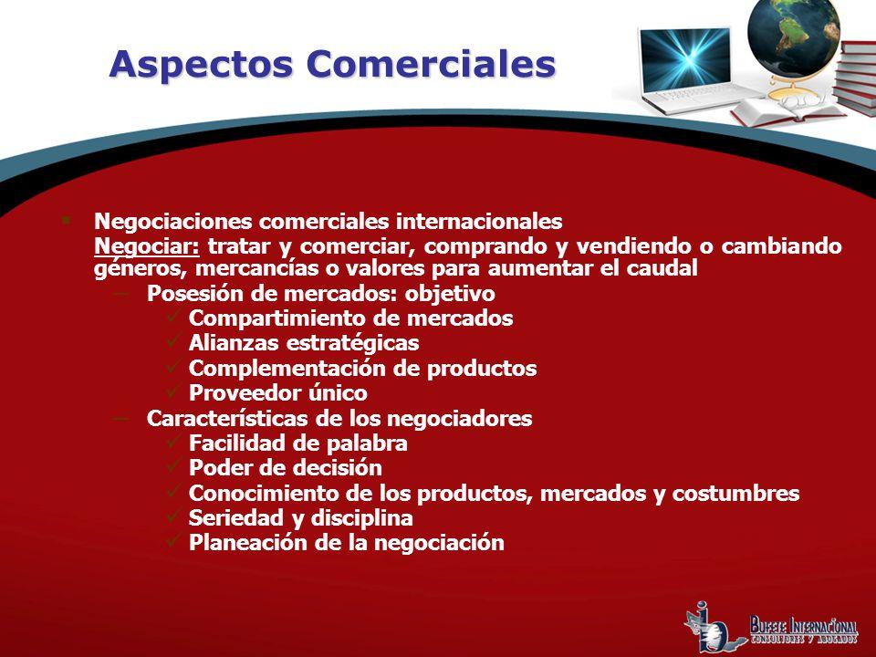 Aspectos Comerciales Negociaciones comerciales internacionales