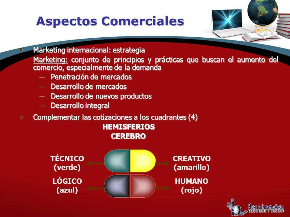 Aspectos Comerciales Marketing internacional: estrategia