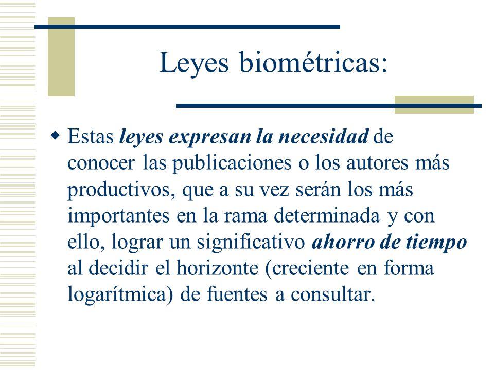 Leyes biométricas: