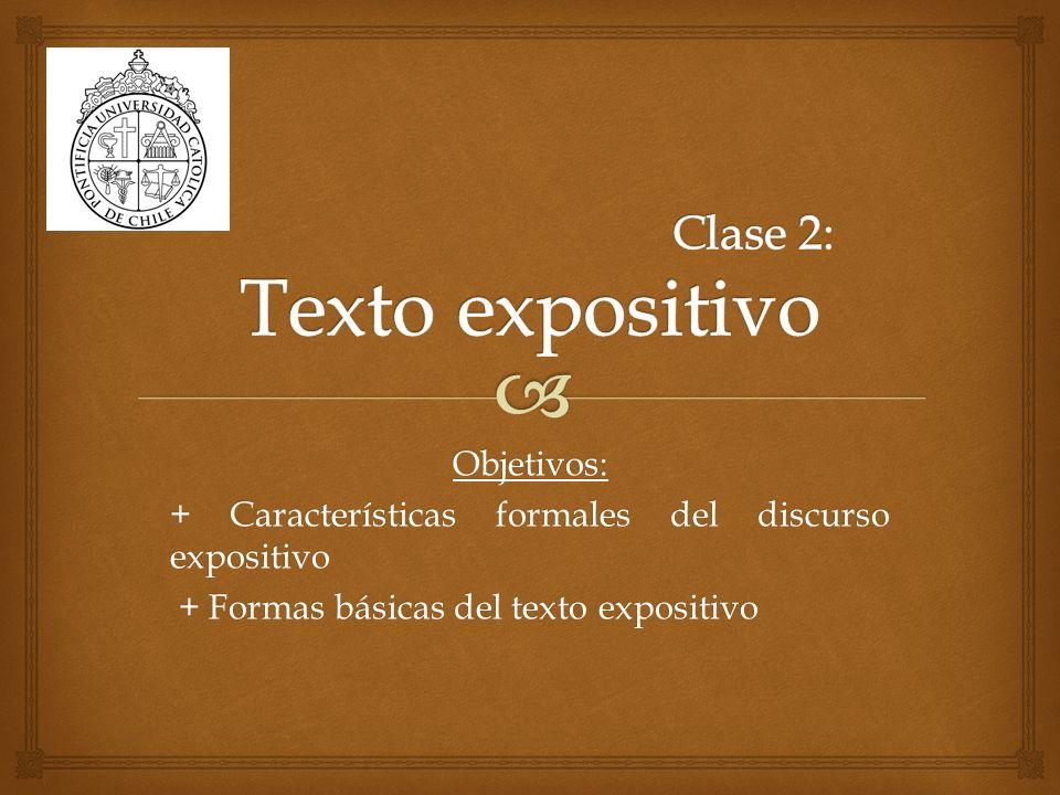 Clase 2: Texto expositivo