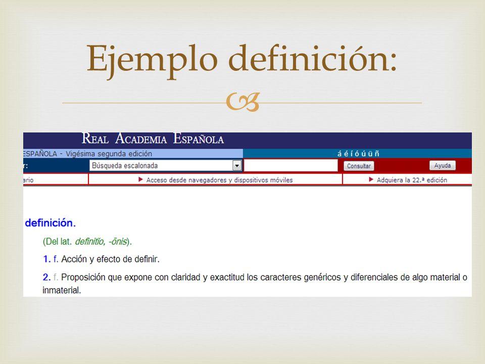 Ejemplo definición: