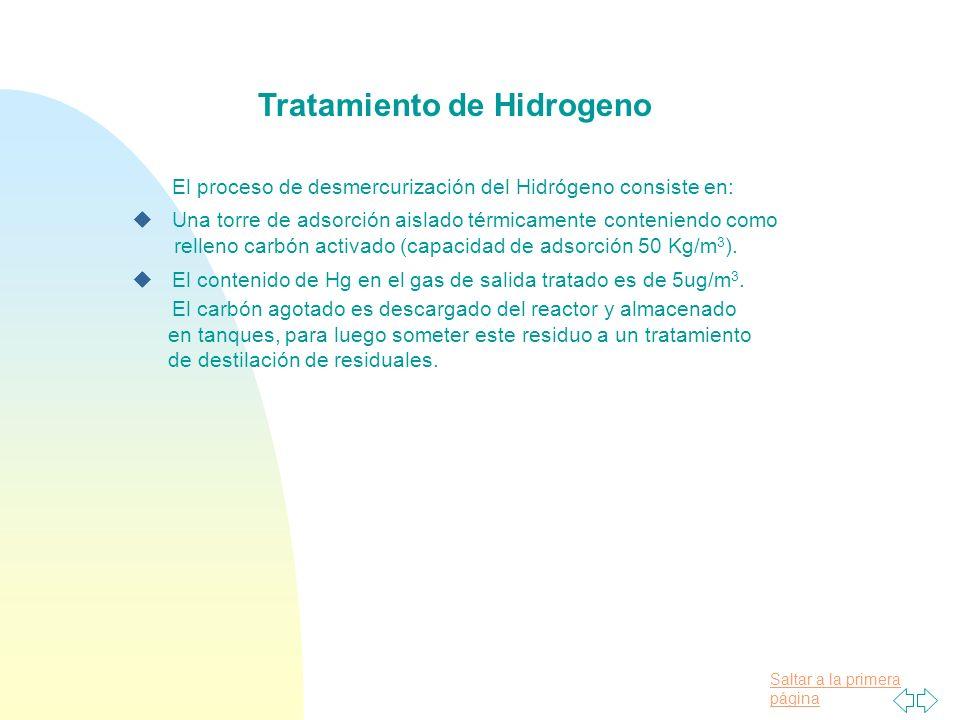 Tratamiento de Hidrogeno