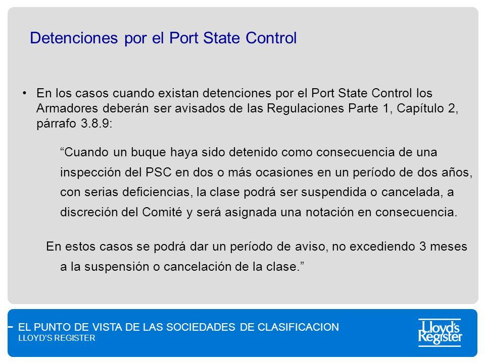 Detenciones por el Port State Control