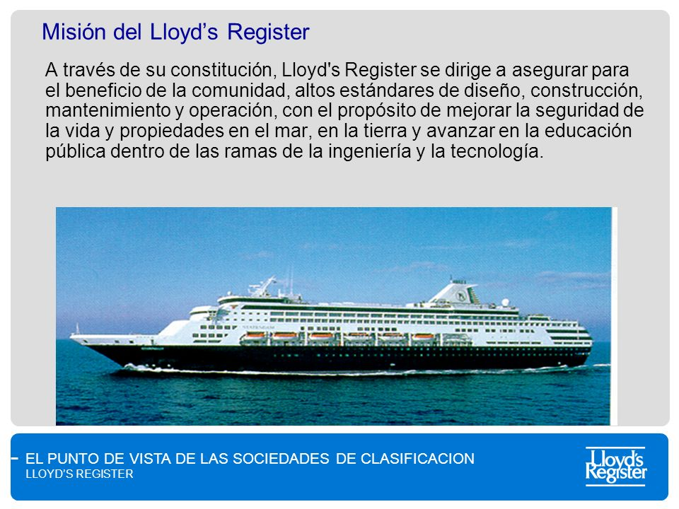 Misión del Lloyd's Register