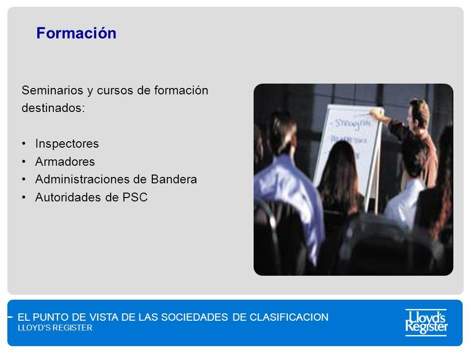 Formación Seminarios y cursos de formación destinados: Inspectores