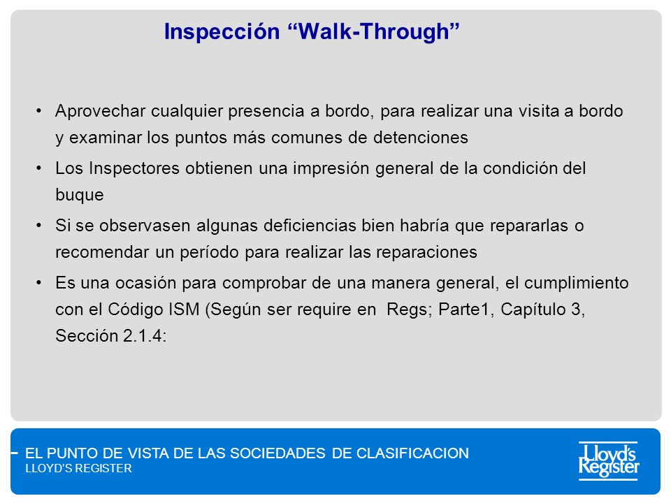 Inspección Walk-Through