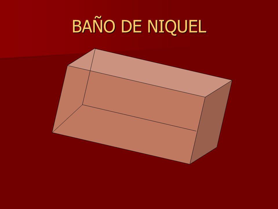BAÑO DE NIQUEL
