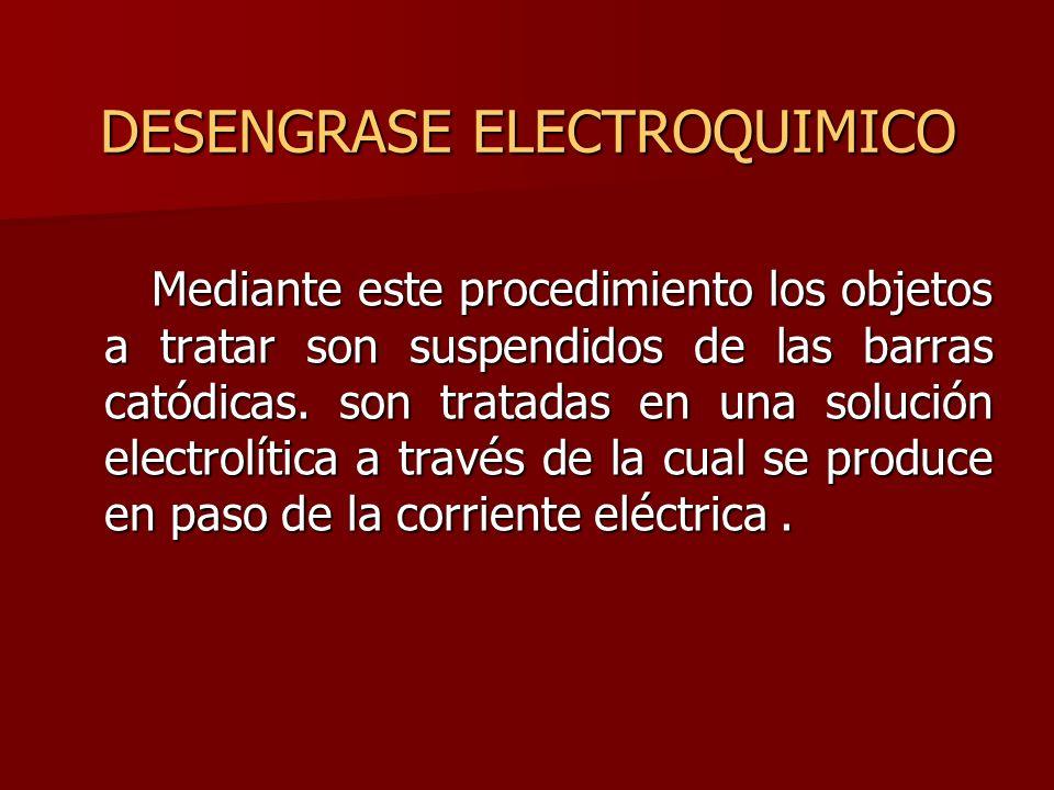 DESENGRASE ELECTROQUIMICO