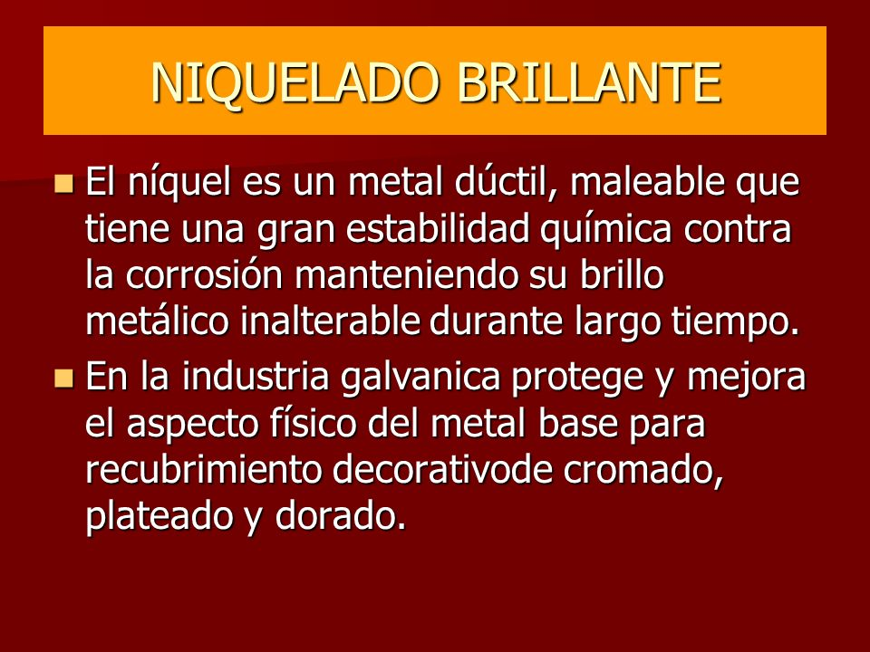 NIQUELADO BRILLANTE