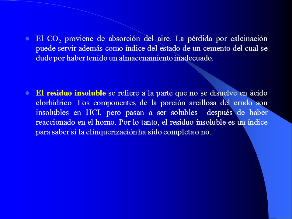 El CO2 proviene de absorción del aire