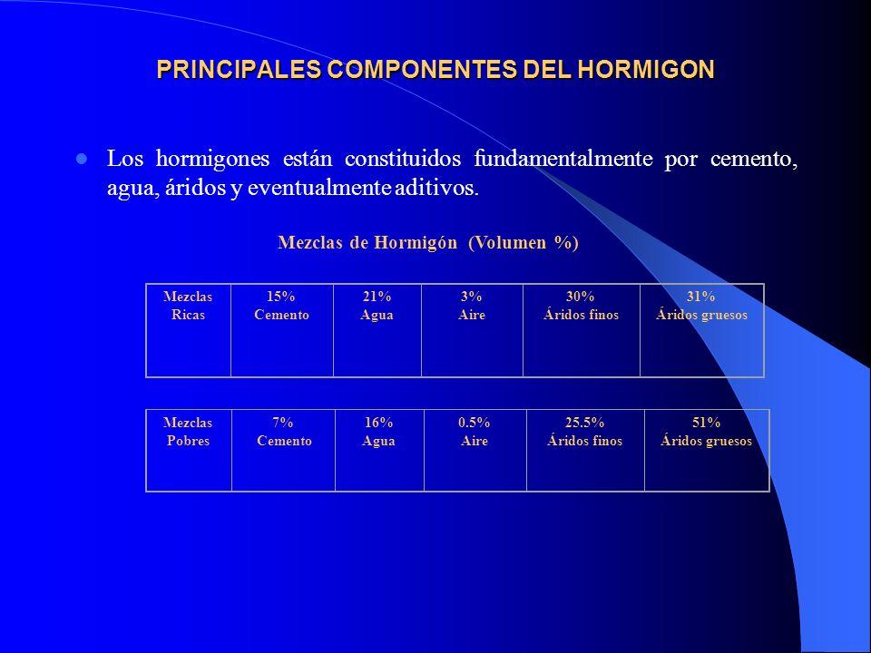 PRINCIPALES COMPONENTES DEL HORMIGON