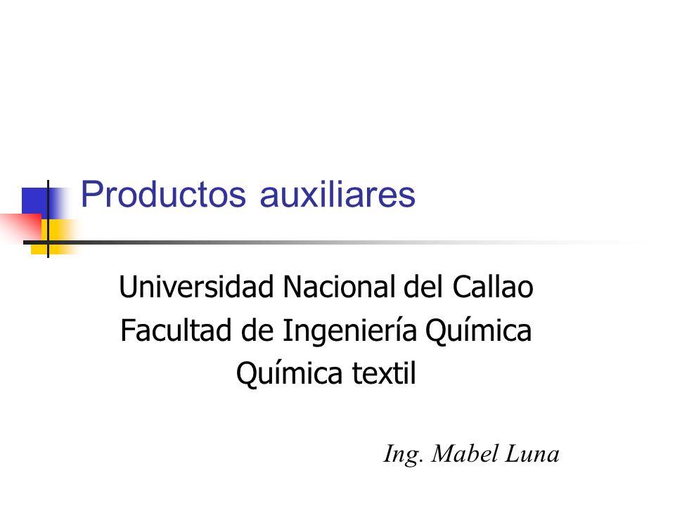 Productos auxiliares Universidad Nacional del Callao