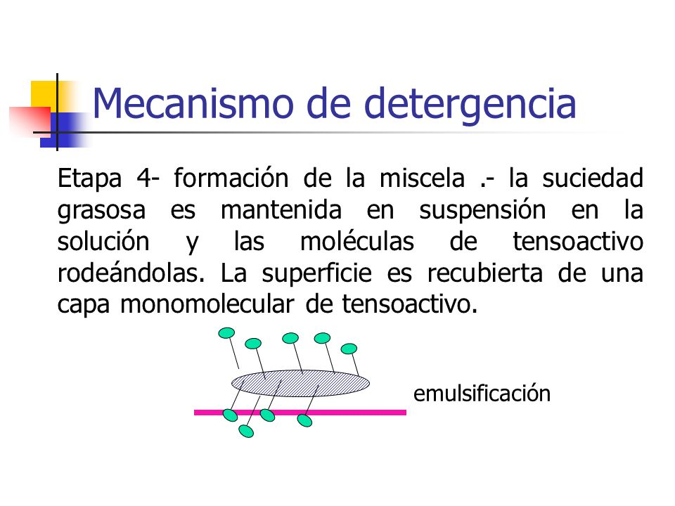 Mecanismo de detergencia