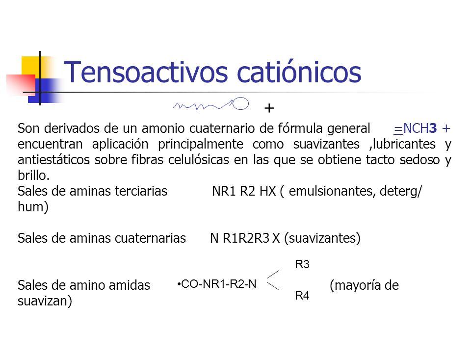 Tensoactivos catiónicos