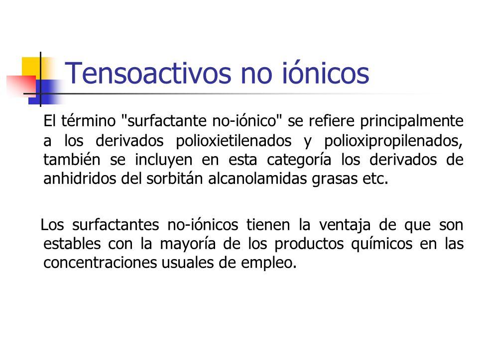 Tensoactivos no iónicos