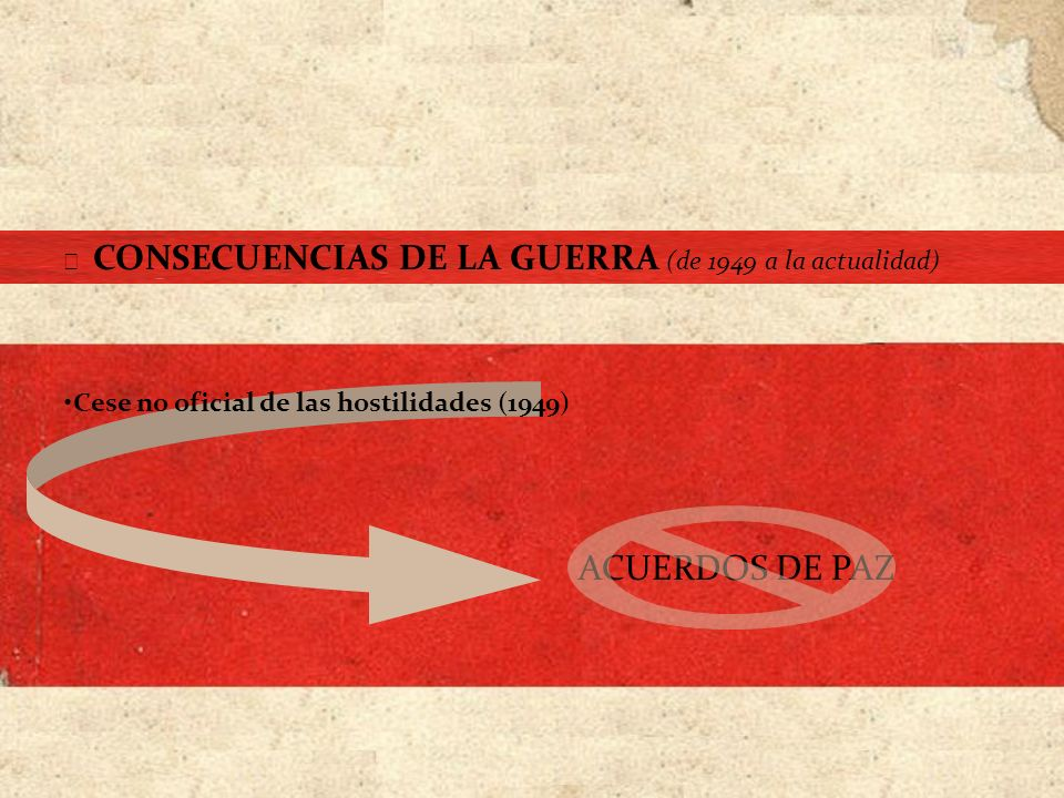 ACUERDOS DE PAZ Cese no oficial de las hostilidades (1949)