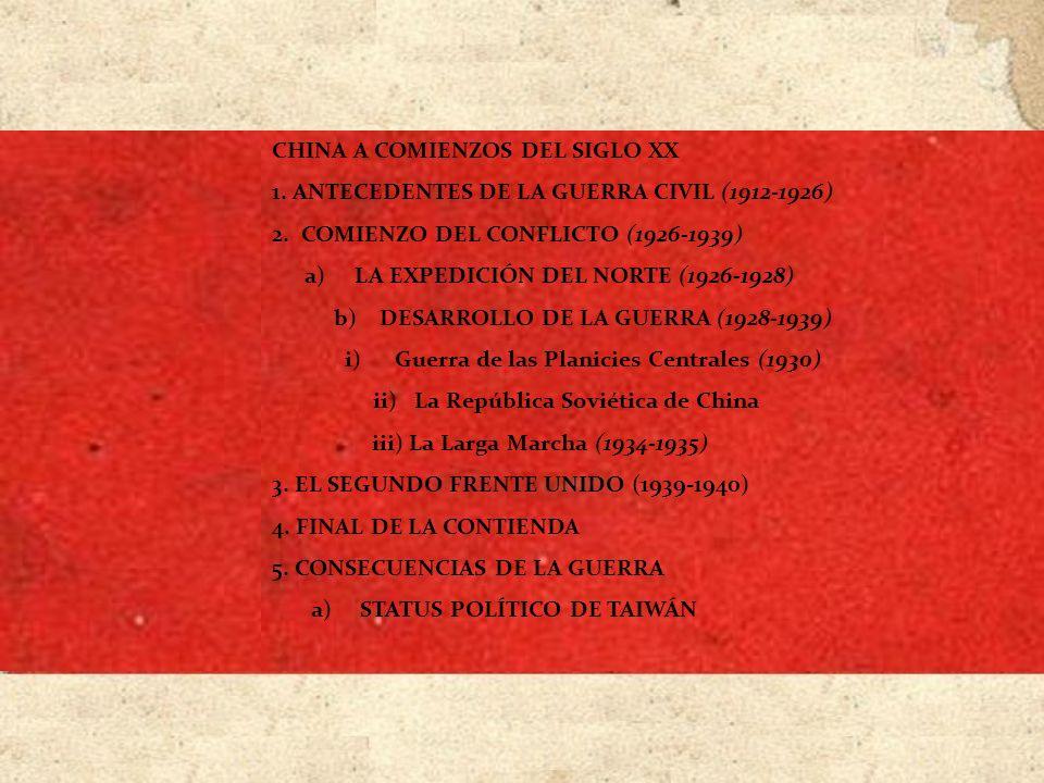 CHINA A COMIENZOS DEL SIGLO XX