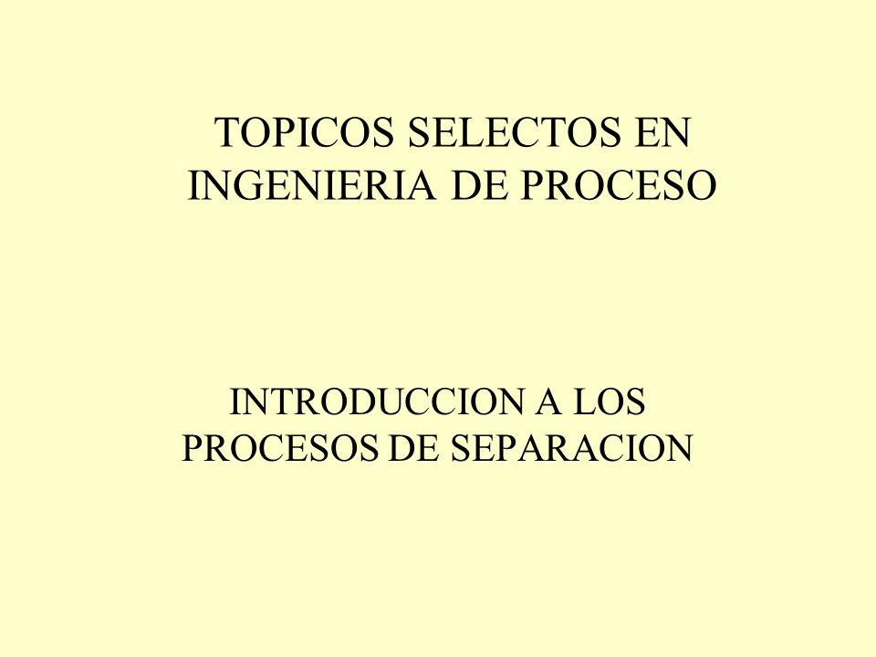 TOPICOS SELECTOS EN INGENIERIA DE PROCESO