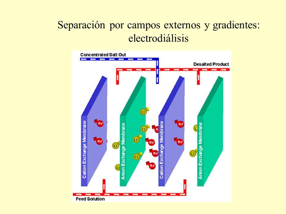 Separación por campos externos y gradientes: electrodiálisis