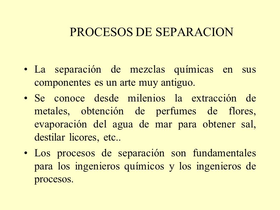 PROCESOS DE SEPARACION