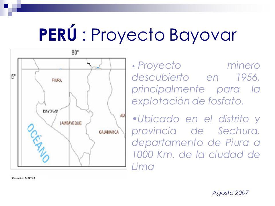 PERÚ : Proyecto Bayovar