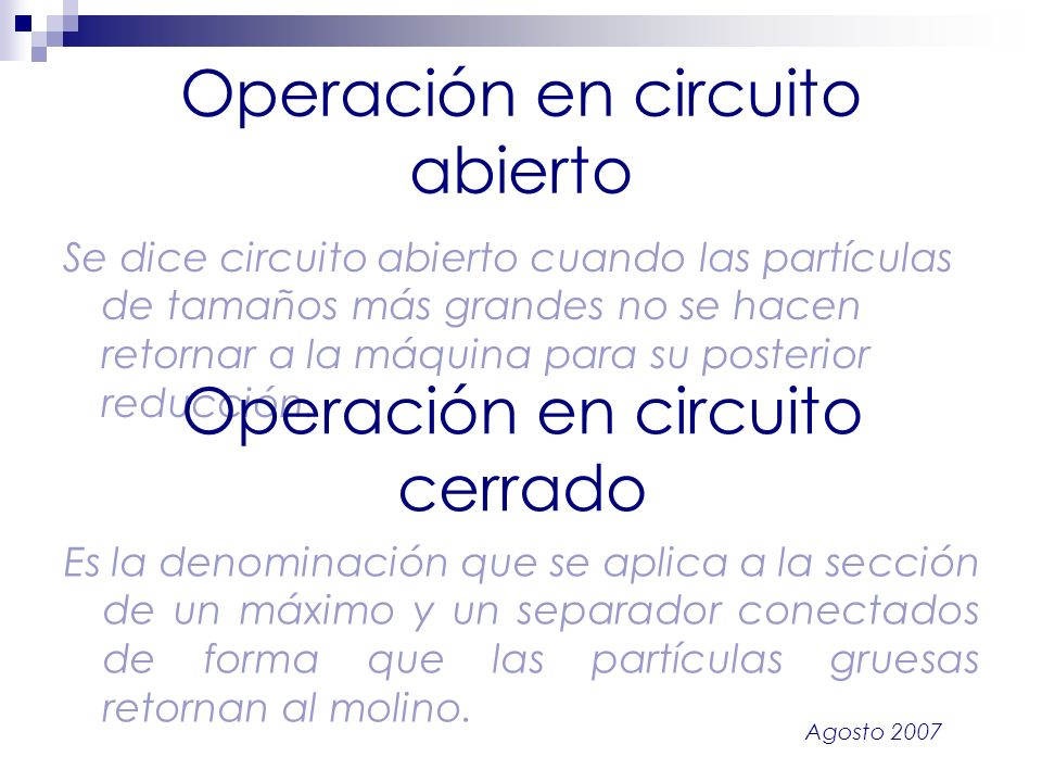 Operación en circuito abierto