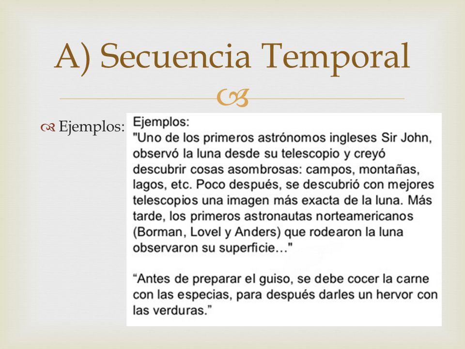 A) Secuencia Temporal Ejemplos: