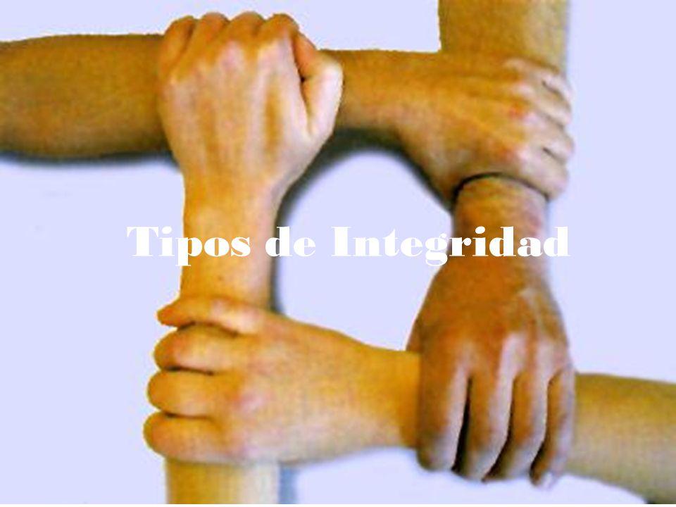 Tipos de Integridad