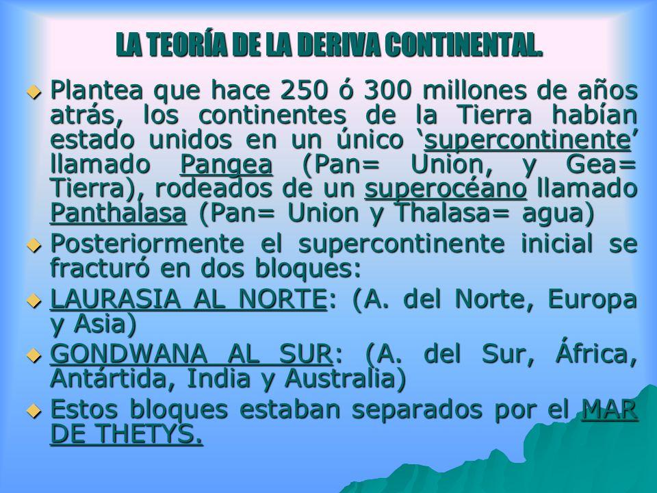 LA TEORÍA DE LA DERIVA CONTINENTAL.