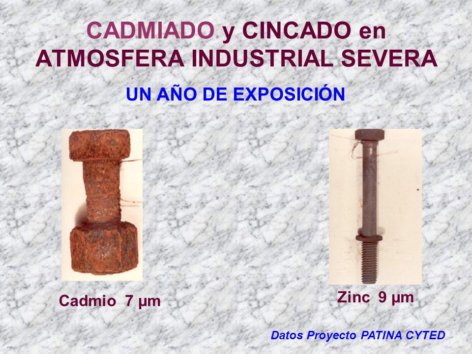 CADMIADO y CINCADO en ATMOSFERA INDUSTRIAL SEVERA