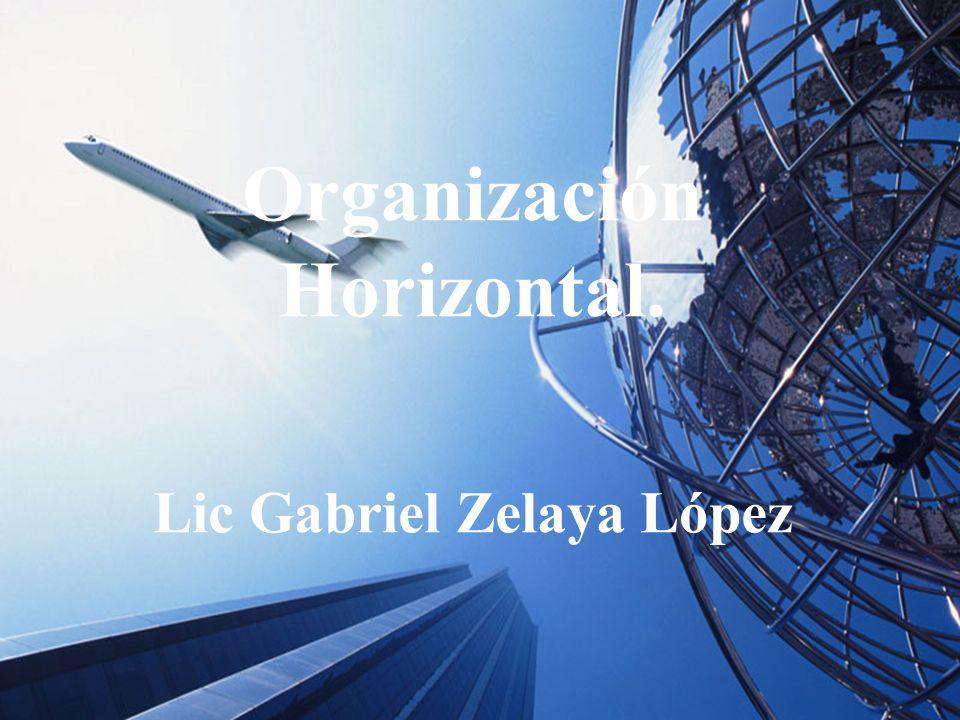 Organización Horizontal. Lic Gabriel Zelaya López