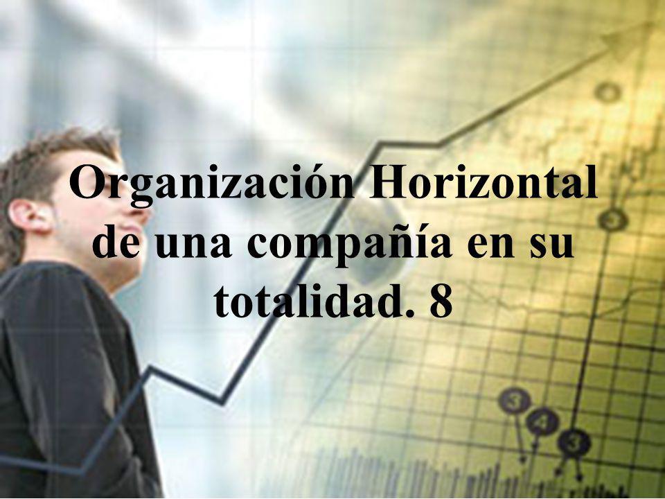 Organización Horizontal de una compañía en su totalidad. 8
