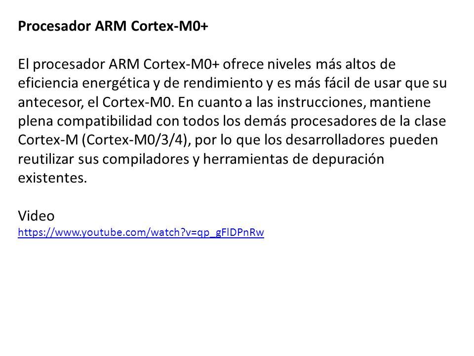 Procesador ARM Cortex-M0+