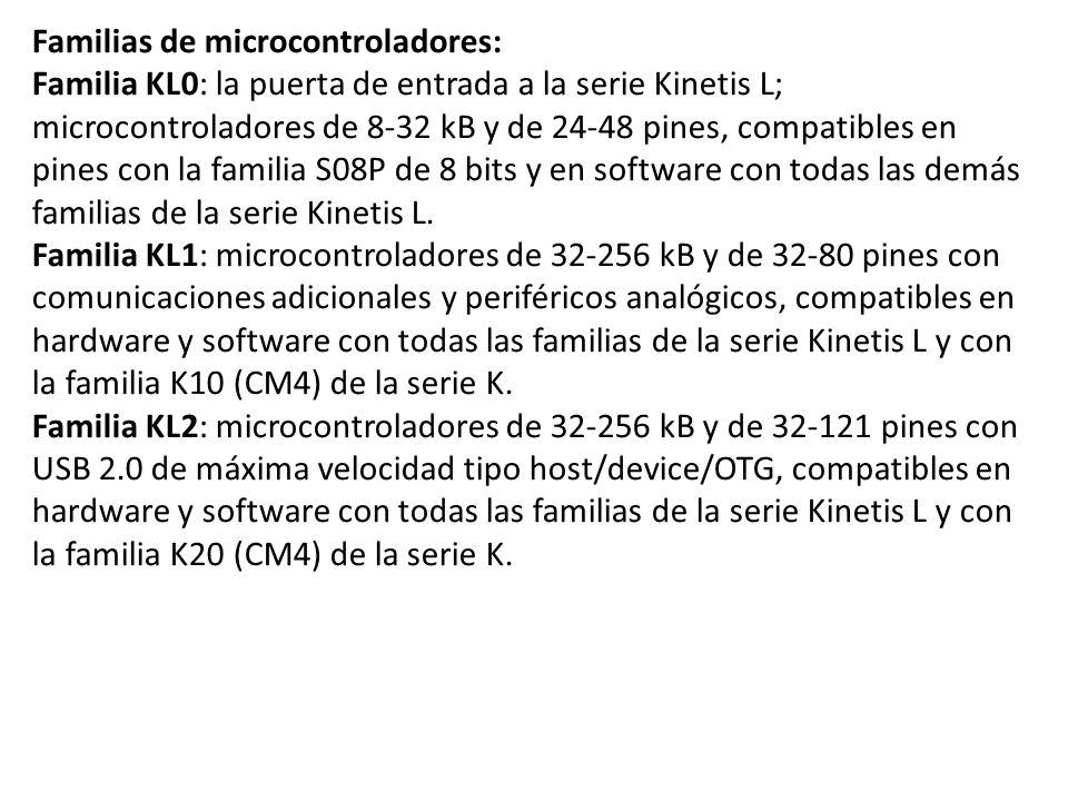 Familias de microcontroladores: