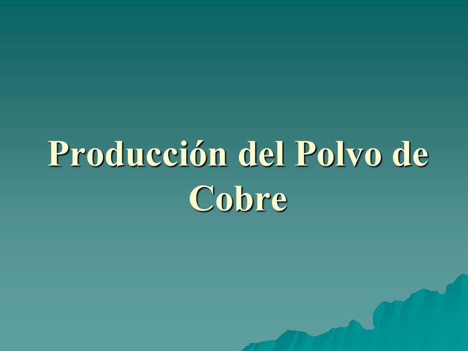 Producción del Polvo de Cobre