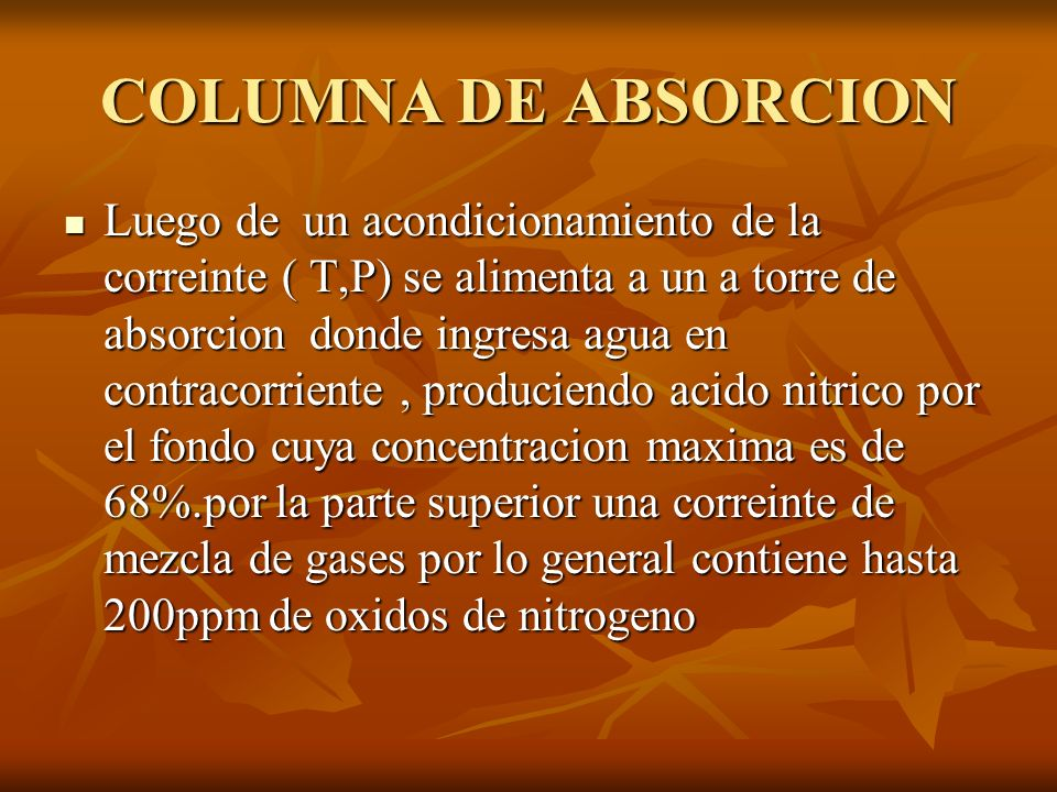 COLUMNA DE ABSORCION