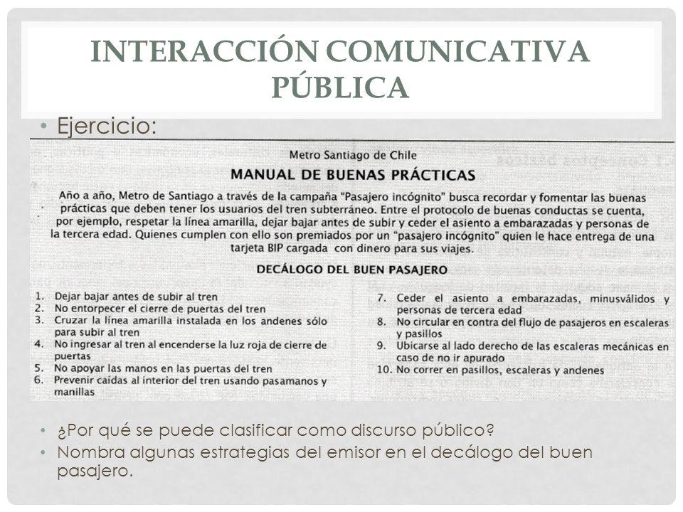 Interacción comunicativa pública