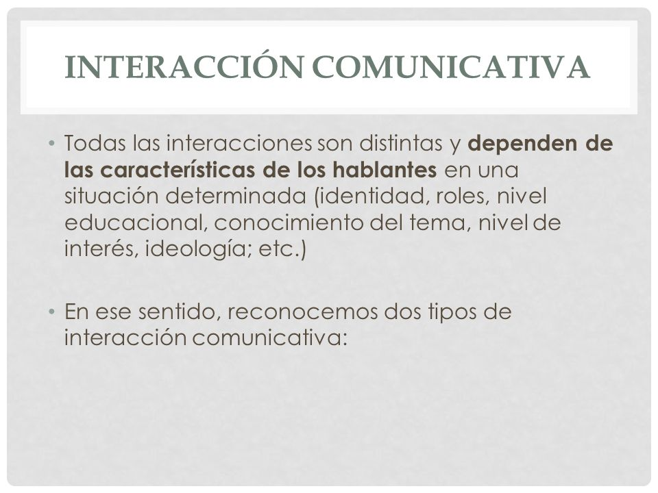 Interacción comunicativa