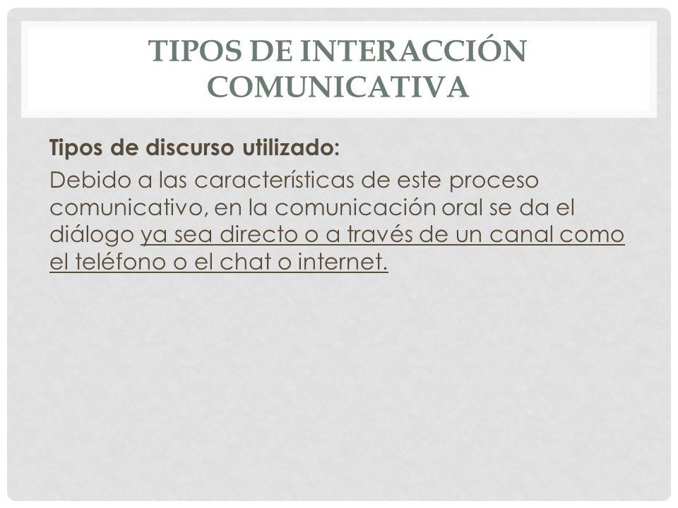 Tipos de interacción comunicativa
