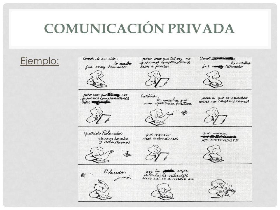 Comunicación privada Ejemplo: