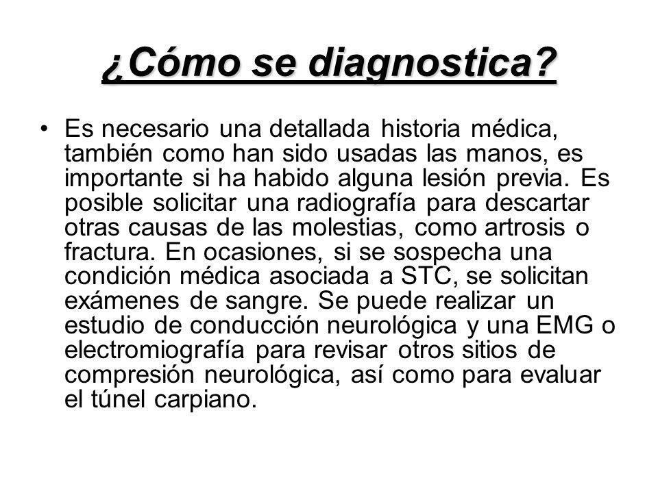 ¿Cómo se diagnostica