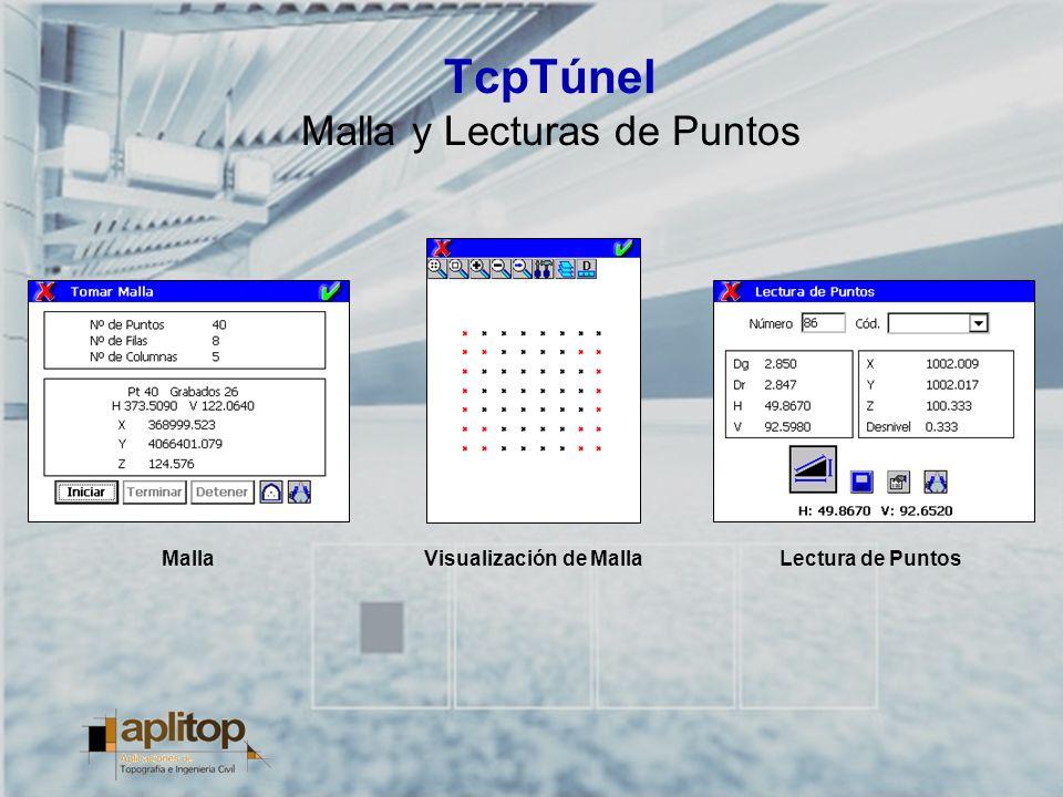 TcpTúnel Malla y Lecturas de Puntos