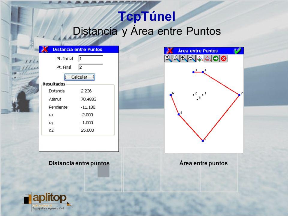 TcpTúnel Distancia y Área entre Puntos