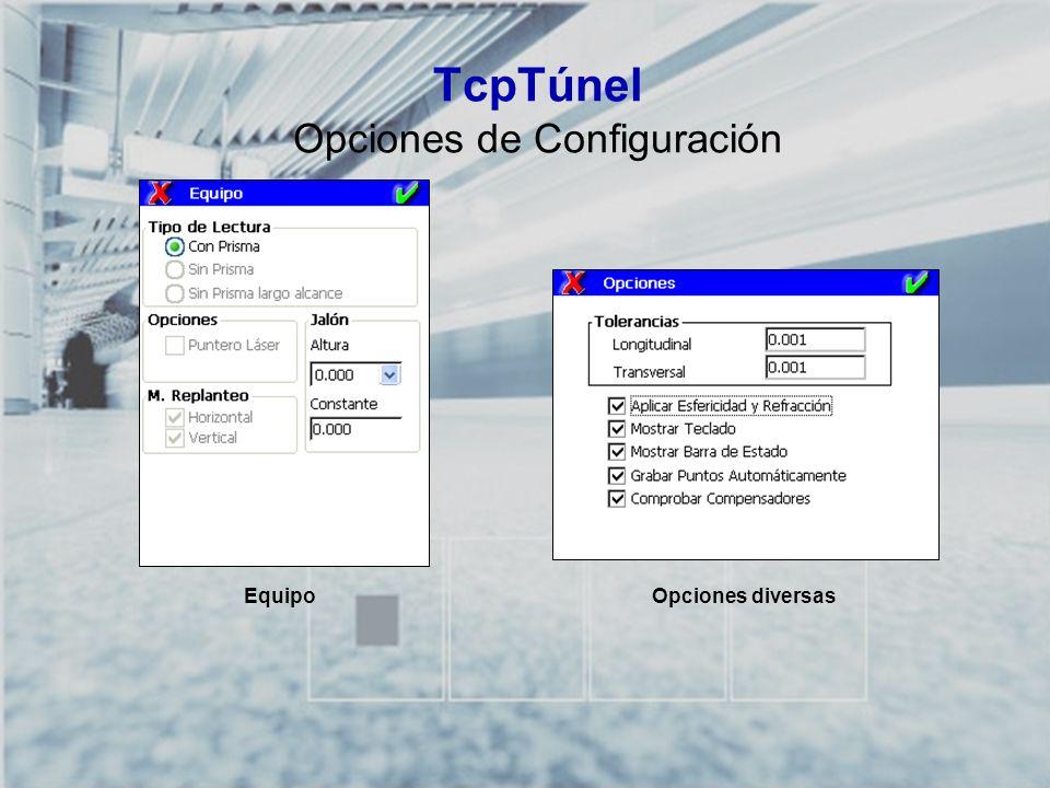 TcpTúnel Opciones de Configuración